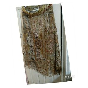WD NY a hundred percent silk lined skirt